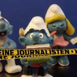 Schlümpfe als Journalisten