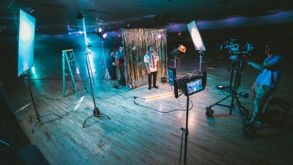 Dreh eines Musikvideos