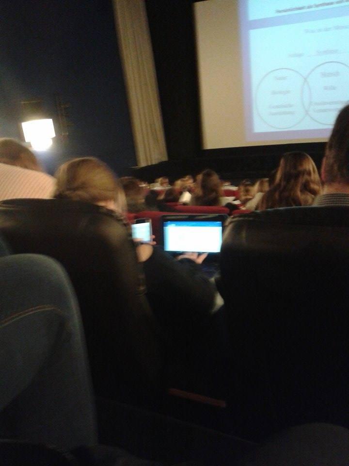 Vorlesung im Kinosaal
