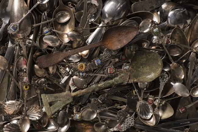 Hunderte Löffel wurden bei der drauen! abgegeben. (Foto: Stadtmuseum MünsteR)