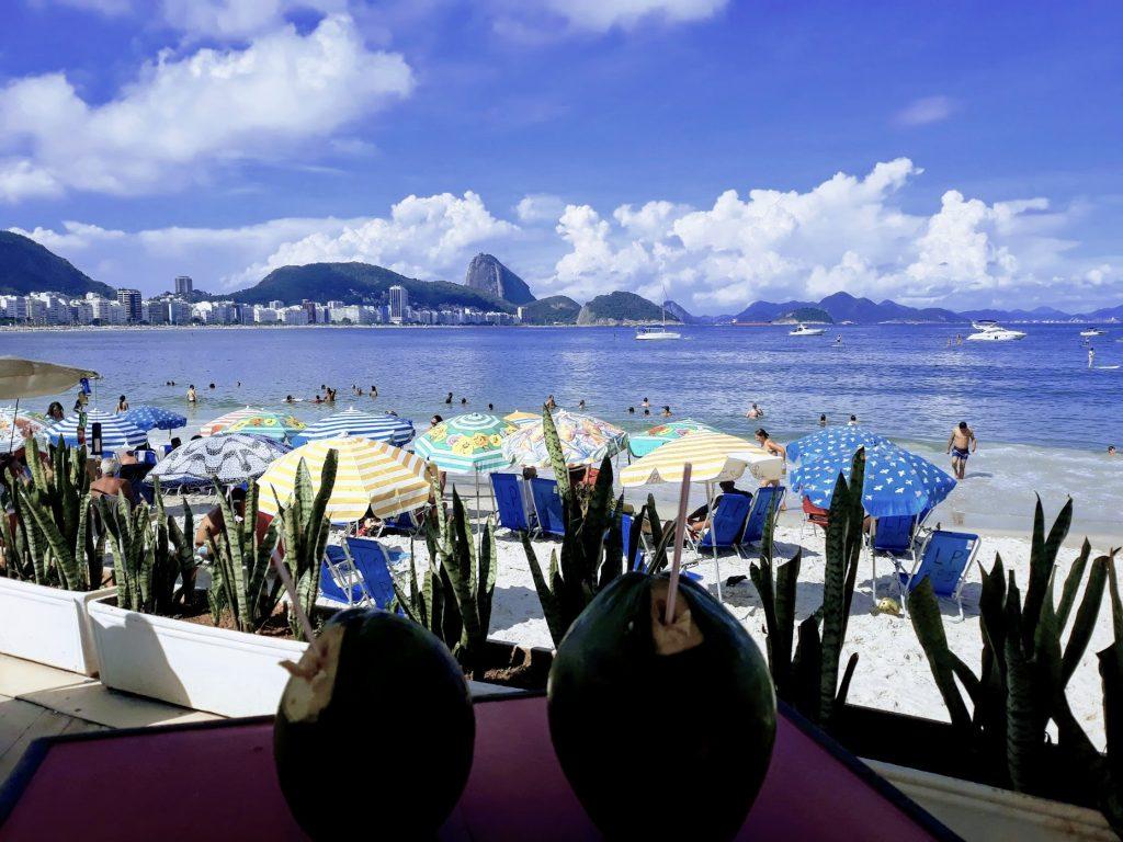 BLick auf den Zuckerhut von der Copacabana aus