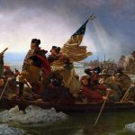 Washington auf dem Delarare River