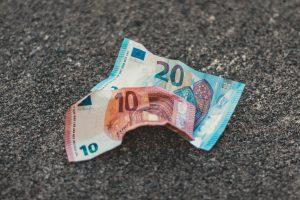 Geld auf der Straße