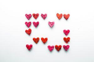 Herzen aus Beeren