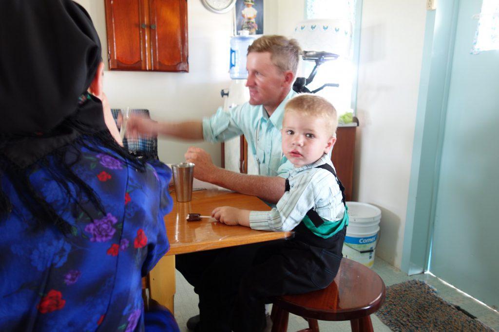 Ein blonder Junge in Mexiko - Auch er gehört zu der Mennoniten-Familie
