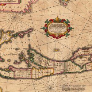 Alte Karte der Bermuda-Inseln