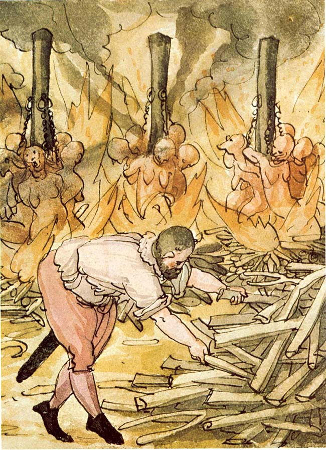 Grafik: Hexenverbrennung