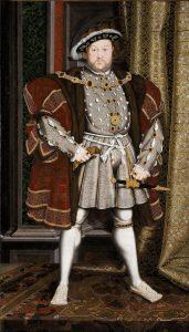 Henry VIII in seiner königlichen Robe
