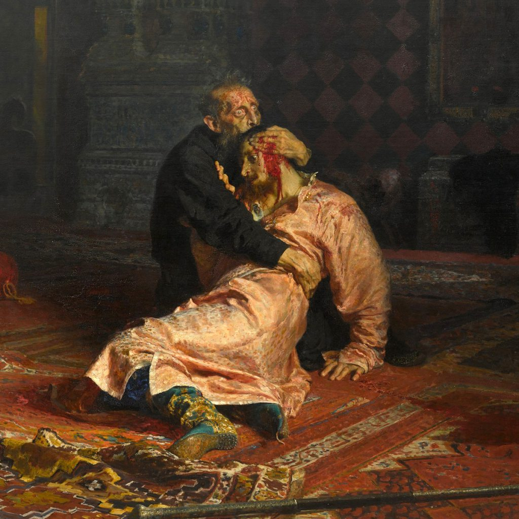 Ivan der Schreckliche mit seinem toten Sohn in den Armen