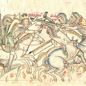 Saladin in der Schlacht