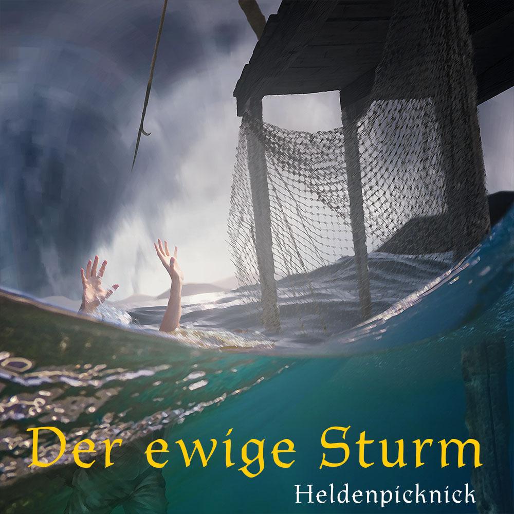 Ein Ertrinkender im Sturm