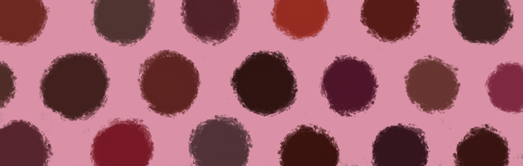 Eine Digitalzeichnung von roten Farbswatches. Es sind verschiedene dunkle Rottöne wie Bordeaux und Merlot abgebildet