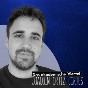 Ein Portrait von Joaquin Cortez vor einem blauen Hintergrund